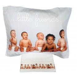 Completo lenzuola digitale Lettino Culla cotone little friends