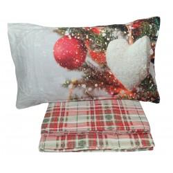 Lenzuola in flanella invernale Pensieri Delicati Addobbi di Natale