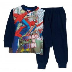 Pigiama Bambino in cotone Sabor Marvel Spiderman Uomo Ragno 4798 blu