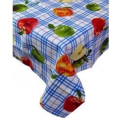 Tovaglia per 12 posti rettangolare mele cotone