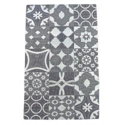 Tappeto rettangolare in ciniglia antiscivolo Mattonella 50 x 80 Tile Karì grigio