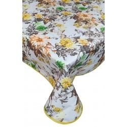 Tovaglia Antimacchia copritavolo rettangolare e quadrato Kuvee Fiori florea Giallo