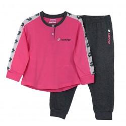 Pigiama lungo in cotone per Bambina Lotto LP8039 rosa