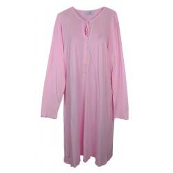 Camicia da notte donna in cotone Piccoli Segreti Ginestra taglie forti