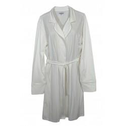 Vestaglia sciallata donna con cintura in cotone Noi Di Notte 93 AS panna