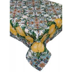 Tovaglia in gobelin Copritavolo per 6 e 12 posti Adera' Maison Limoni di Sorrento