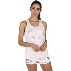 Pigiama donna corto Estivo in cotone e modal Admas 55132 rose rosa