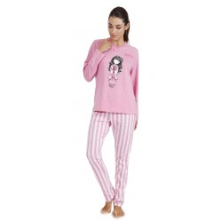 Pigiama donna lungo Santoro London Gorjuss Goodnight 55505 rosa