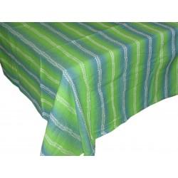 Tovaglia copritavola per 12 verde in cotone