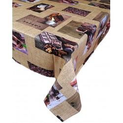 Tovaglia per 6 e per 12 posti copri tavolo rettangolare cioccolato