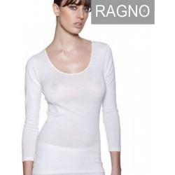 Maglia intima Donna Ragno in lana merino e seta manica lunga 074029