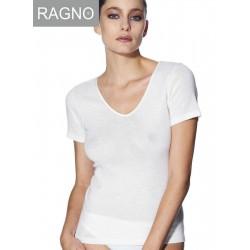 Canottiera maglia intima Ragno 100 merino manica corta