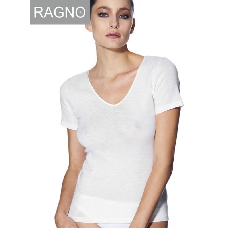 0611bc2430b894 Canottiera maglia intima Ragno sintonia lana cotone manica corta ...