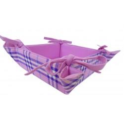 Porta pane quadrato 35 x 35 lilla