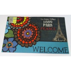 Zerbino rettangolare ingresso casa gommato antiscivolo Paris