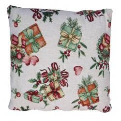 due cuscini quadrato con imbottitura pacco regalo