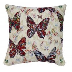 Cuscino arredo con cerniera quadrato con imbottitura farfalla