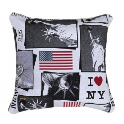 Cuscino arredo quadrato i love new york