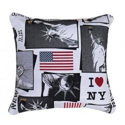 Cuscino arredo quadrato i love new york