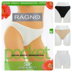 1 Slip mutanda donna RAGNO bordato liscio cotone 07455n