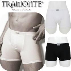 Boxer uomo puro cotone modal TRAMONTE bianco nero