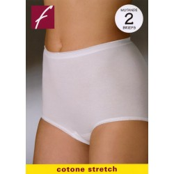 2 SLIP Mutanda confort donna FRALY cotone DF0033