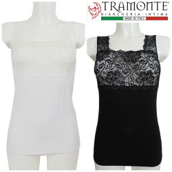 Canottiera micromodal pizzo Tramonte Mary T798