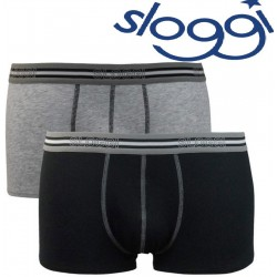 Due boxer SLOGGI match cotone strech SHORT bipack