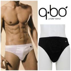 Due Boxer Uomo QBO Cotone bielastico da 3/° A 7/° Bianco
