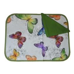 Set colazione con farfalle grandi verdi