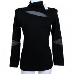 sottogiacca maglia impose manica lunga trasparente nero