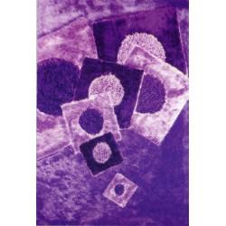Tappeto moderno 100x140 bolero lilla shaggy