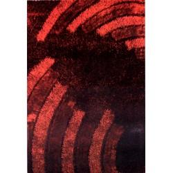 Tappeto moderno 120x170 Mambo bordeaux shaggy
