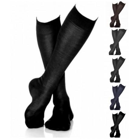 acquisto speciale vivido e di grande stile molto carino 1 paio di calzini uomo lunghi Filo di scozia Punto Ras lancaster - Dolce  Casa Biancheria