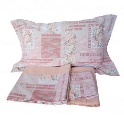 Set di lenzuola matrimoniale 2 piazze cotone Dreams rose rosa